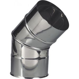 Ten 264153 - Coude 45 2 parties Inox 304 diamètre 153