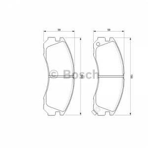 Bosch 4 plaquettes de frein 0986424523