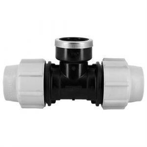 Plasson Té 90° avec dérivation taraudée PE compression Ø40-11/4 de - Catégorie Raccord PE compression