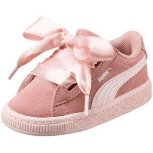 Puma Suede Heart Jewel PS, Sneakers Basses Fille, Beige (Peach Beige-Pearl), 31 EU