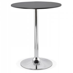 "Table de Bar ""Arica"" 90cm Noir Prix"