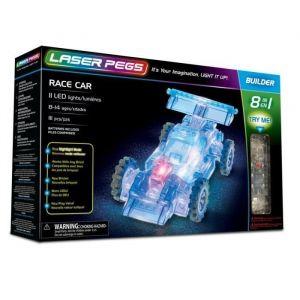 Laser pegs 81010 - Race car coffret 111 pièces - Jeu de construction 8-en-1 - Brique Lumineuse