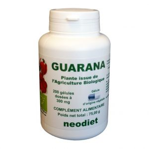 Neodiet Gélules de guarana bio en boite de 200 unités