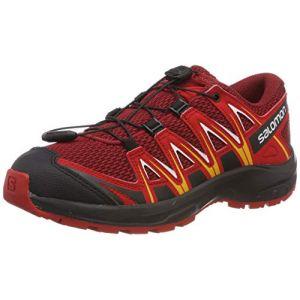 Salomon XA Pro 3D J, Chaussures de Trail Mixte enfant Rouge (Red Dahlia)32 EU