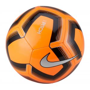 Nike NK Ptch Train-Sp19 Ballon de Football Mixte Adulte, Total Orange/Noir/Argent, FR : L (Taille Fabricant : 5)