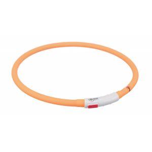 Trixie Flash anneau lumineux usb - XS-XL: 70 cm/ø 10 mm, orange