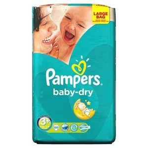 Pampers Baby Dry Taille 3+ (de 5 à 10 kg) - 68 couches