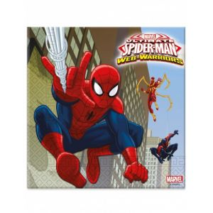 20 serviettes Spiderman (33 x 33 cm)