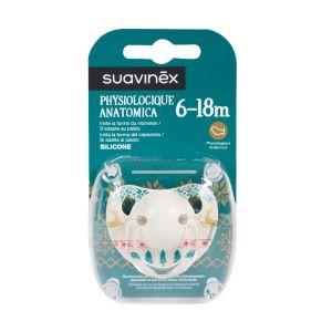 Suavinex Sucette physiologique en silicone Winter 6-18 mois