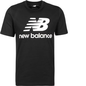 New Balance Essentials Stacked Logo Tee black
