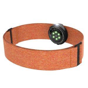 Polar OH1+ Capteur de Fréquence Cardiaque Optique Waterproof, Compact et Polyvalent avec Bluetooth et ANT+, Orange
