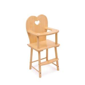 Legler 1162 - Chaise haute pour poupée nature