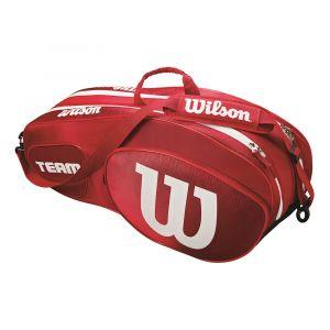 Wilson Sac de Tennis Unisexe pour Les Joueurs Experts Team III 6 PK Taille Unique Rouge/Blanc WRZ857806