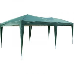 Outsunny Tonnelle barnum pliant pop-up imperméabilisé 6L x 3l x 2,5H m 6 parois latérales amovibles 4 fenêtres + sac de transport vert