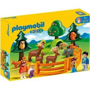 Playmobil 6772 - 1.2.3 : Parc d'animaux et famille