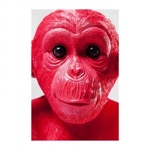Kare Design Tirelire chimpanzé rouge MIZARU