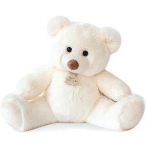 Histoire d'ours Peluche 80 cm Bel ours blanc