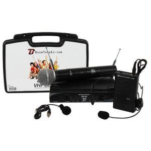 BoomToneDJ VHF 20MHL - 2 micros cravate/serre tête et micro main H.F. sans fil fréquence F2-F4
