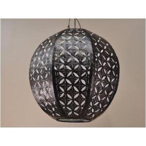 Suspension lustre en acier déco 40 cm