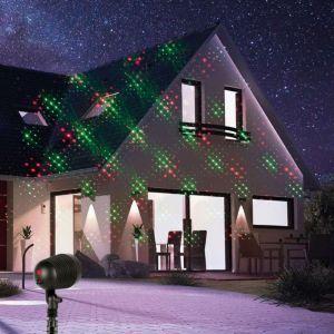 Homtech Projecteur de façade lumineux 9 fonctions