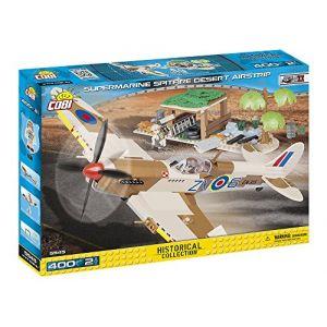 Cobi Supermarine Spitfire et piste d'atterrissage du désert - Jeux