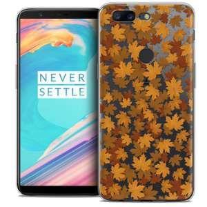 CaseInk Coque OnePlus 5T (6 ) Extra Fine Autumn 16 Feuilles