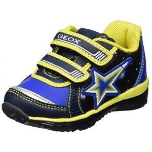 Geox B Todo A, Sneakers Basses bébé garçon, Bleu (Navy/Lime), 25 EU