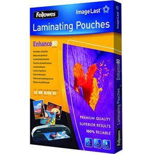 Fellowes 100 pochettes de plastification à chaud format A3 (80 µ)