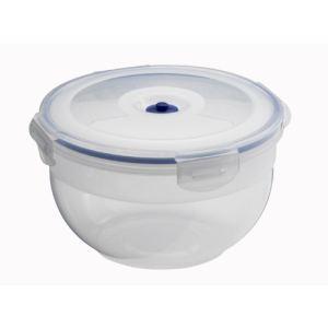 Aspifresh 4 boîtes alimentaires ronde en plastique avec pompe