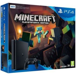 Sony PS4 500 Go Slim Console + Minecraft