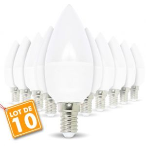 Eclairage design Lot de 10 ampoules E14 5.5W eq 40W | blanc-chaud-3000k