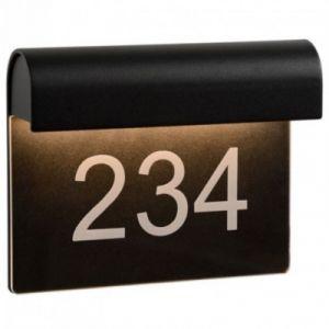 Lucide Applique numéro maison Thesi LED H16 cm IP54 - Noir