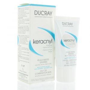 Ducray Keracnyl Masque peaux grasses à imperfections 40ml