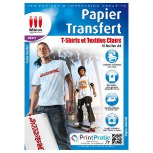 Micro application 5017 - 10 feuilles papier transfert pour textile (A4)