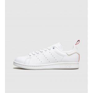 Adidas Stan Smith, Chaussures de Gymnastique Homme, Blanc Crystal FTWR White/Scarlet), 43 1/3 EU