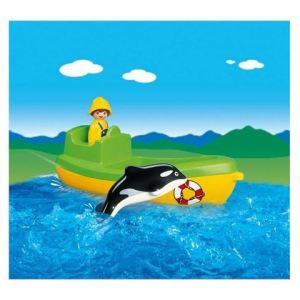 Playmobil 6739 - 1.2.3 : Pêcheur en bateau et dauphin