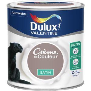 Dulux Valentine Peinture Crème De Couleur Satin Brun Cachemire 0,5 L