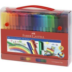 Faber-Castell Feutre Connector Mallette de 60 pièces