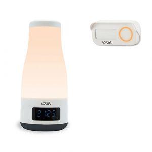 Extel Sonnette sans fil MOOD avec enceinte bluetooth et lampe intégrée