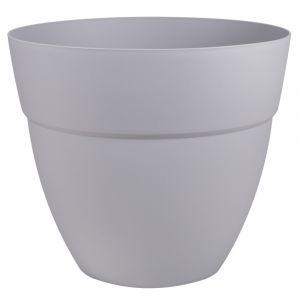 Eda Plastiques Pot Cancùn - diamètre 40 cm - volume 28,3 litres - gris béton