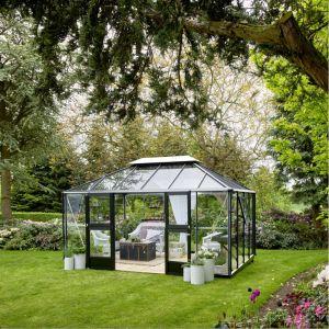 Juliana Serre de jardin GRAND OASE 13m² aluminium et verre trempé 3mm
