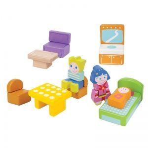 Boikido Accessoires pour maison de poupées (10 pièces)