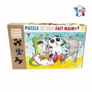 Puzzle Michèle Wilson Puzzle en bois Fait Main 12 pièces : Le Concert des Animaux