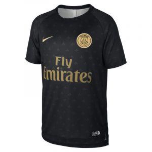 Nike Haut de football à manches courtes Paris Saint-Germain Dri-FIT Squad pour Enfant plus âgé - Noir - Taille L