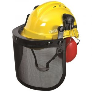 Heliotrade Casque de protection forestier PRO (visiere - casque - anti bruit)