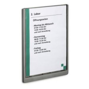Durable Plaque de porte Click Sign format A4 portrait coloris graphite