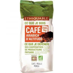 Ethiquable Café moulu Bio du Perou - Paquet de 1 kg