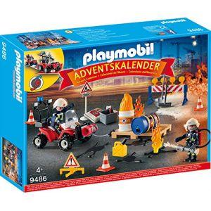 Playmobil Calendrier de l'Avent 'Pompiers et incendie de chantier' Christmas - 9486