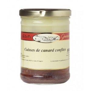Les treilles gourmandes Cuisses de canard confites - 2 pièces, Bocal 740 gr