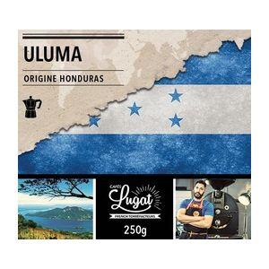 Cafés Lugat Café moulu Bio pour cafetière italienne : Honduras - Uluma - 250g
